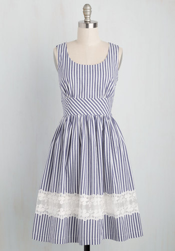Maine Attraction Dress in Stripes