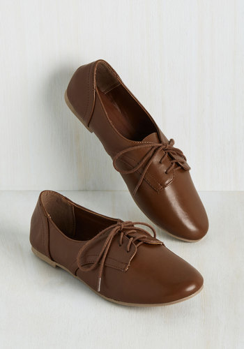 Classic Character Flat in Chestnut $34.99 AT vintagedancer.com