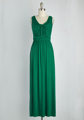 Brunch at Home Dress in Emerald
