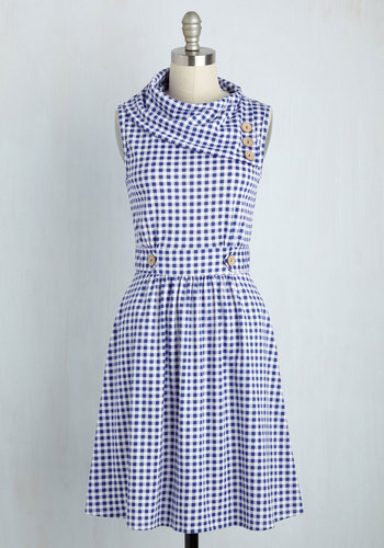 Coach Tour Dress in Gingham
