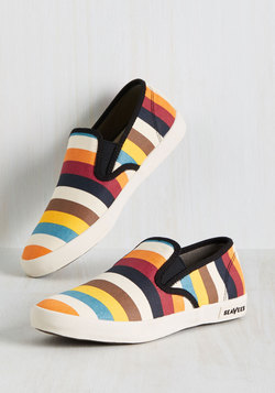 Long Beach Bash Slip-on Sneaker in Bright Stripes