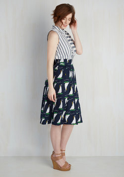 Far-Out and Fabulous Skirt in Sailboats