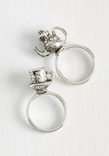 Crumpet Course Ring Set - Solid, Fairytale, Quirky, Darling, Silver, Exclusives
