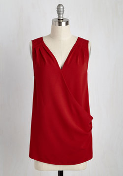 Opulent Epiphany Top in Red