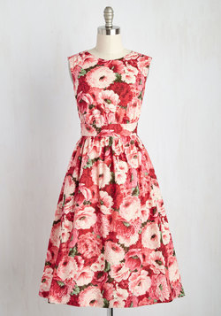 Too Much Fun Dress in Painted Posies - Long