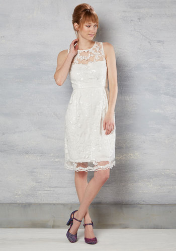 1960s Style Wedding Dresses Bride and Precedence Dress in White $150.00 AT vintagedancer.com