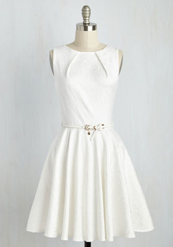 Luxe Be a Lady Dress in White