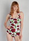 Bathing Beauty One-Piece Swimsuit in Roses