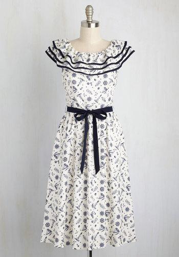 Major Ocean Picture Dress $84.99 AT vintagedancer.com