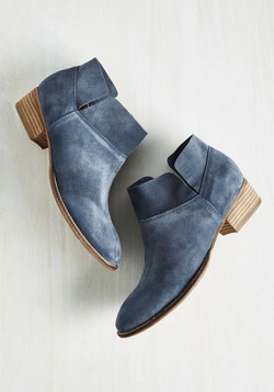 Snare Suede Bootie in Dusty Blue