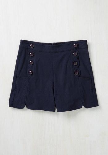 Ripples My Fancy Shorts in Navy $44.99 AT vintagedancer.com