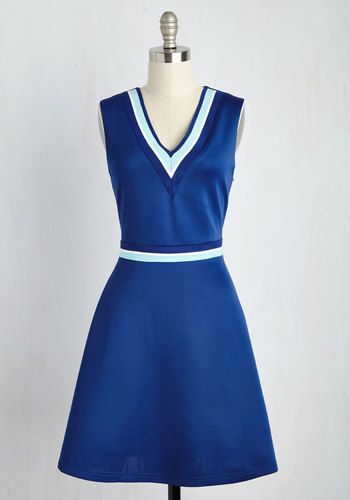 Quad Goals Dress in Cobalt $59.99 AT vintagedancer.com