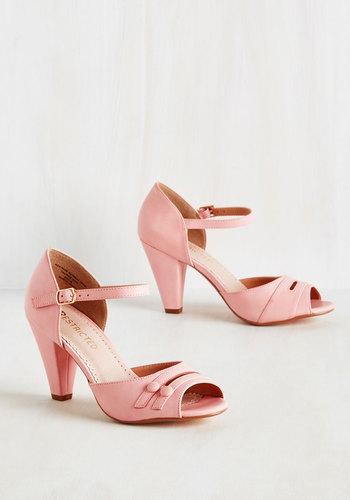 All-Singing All-Prancing Heel in Pink $64.99 AT vintagedancer.com