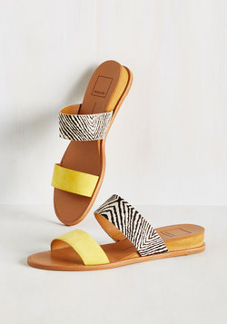 It's Been a Wild Stride Sandal in Zebra