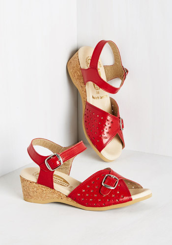 View of the Sea Wedge in Red $89.99 AT vintagedancer.com