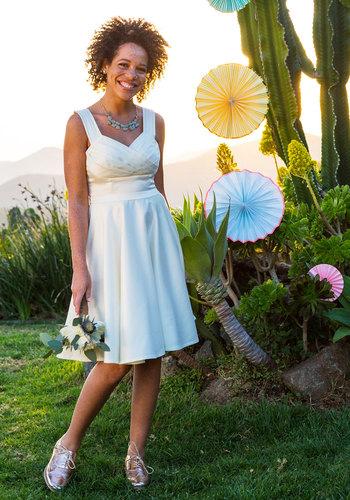 Cast an Elegance Dress in Ivory $175.00 AT vintagedancer.com