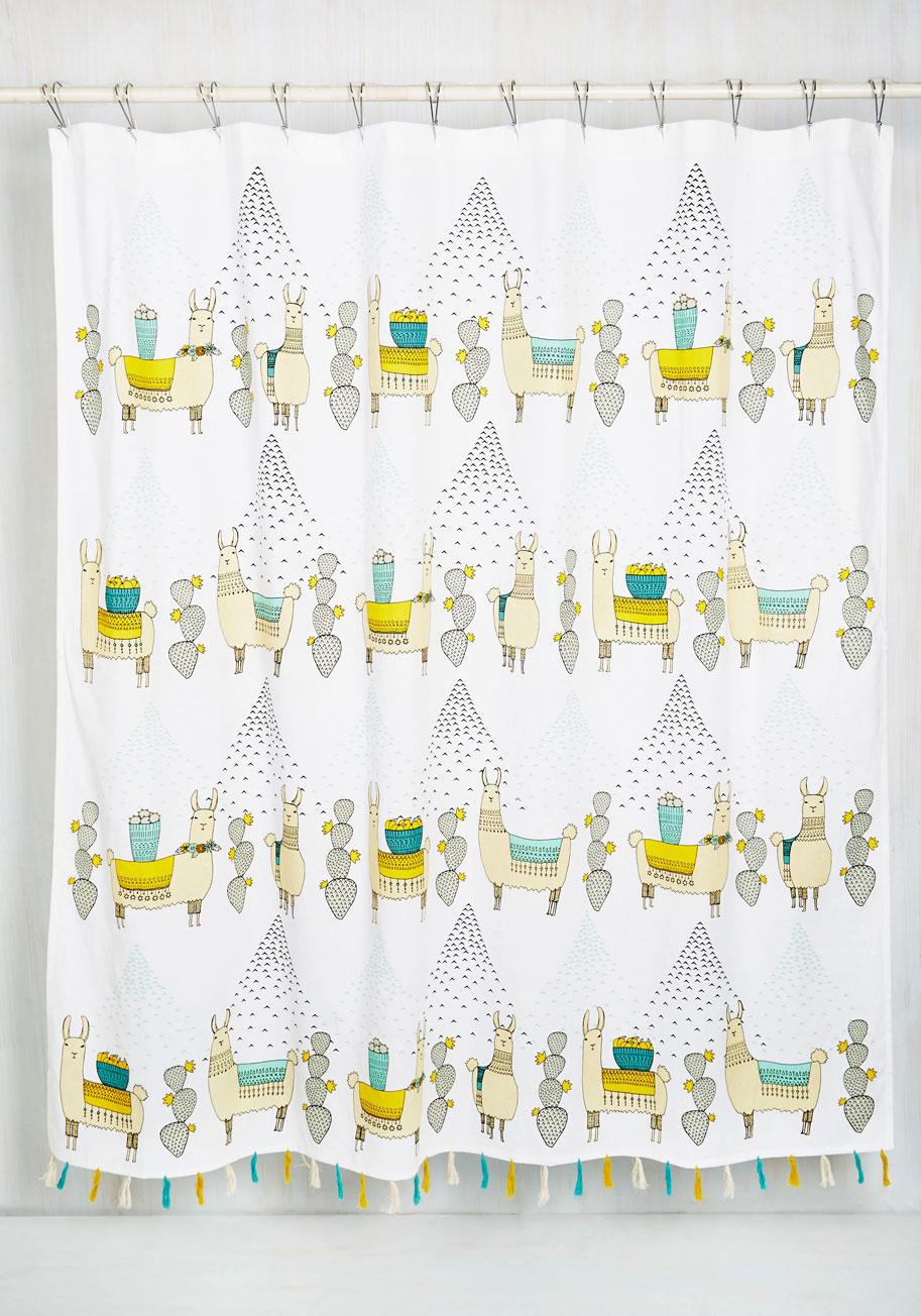 Llama Im Coming Home Shower Curtain