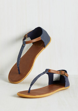 Dots of Promise Sandal in Navy