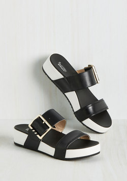 On My Buckle List Sandal in Black