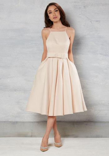 Genuine Gentility Dress in Buttercream $175.00 AT vintagedancer.com