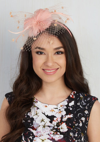 Topper the Charts Fascinator in Carnation