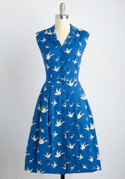 Bake Shop Browsing Dress in Swallows