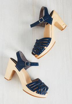 Runway to Reality Heel in Navy