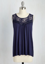 Sweet-Spirited Top in Navy Great Clothing for Summer!