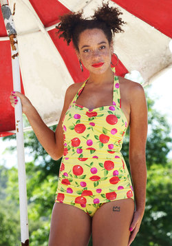 Fruity Suity One-Piece Swimsuit in Yellow
