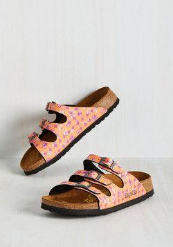 Strappy Feet Sandal in Orange - Narrow
