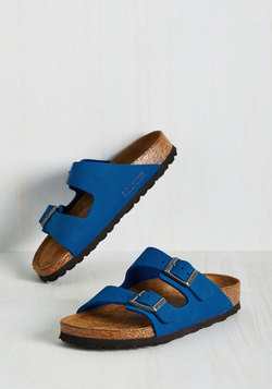 Strappy Camper Sandal in Cobalt - Narrow