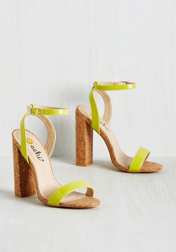I Struck a Bold Mine Heel in Chartreuse
