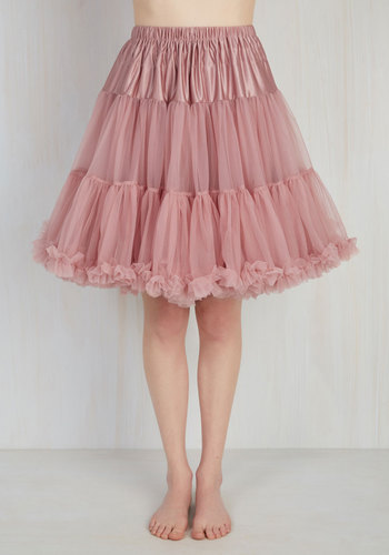 Chic Takes Shape Petticoat in Dusty Rose $49.99 AT vintagedancer.com