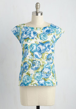 Whimsy and Wonder Top in Watercolor Flowers