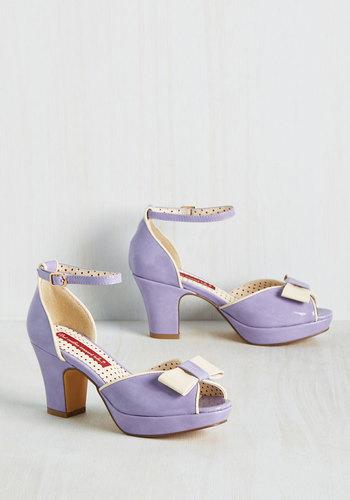 Bowed and Boating Heel in Lavender $74.99 AT vintagedancer.com