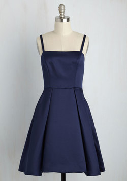 Understated Statement Dress in Midnight