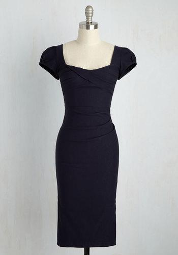 CEO My Darling Dress in Navy $199.99 AT vintagedancer.com