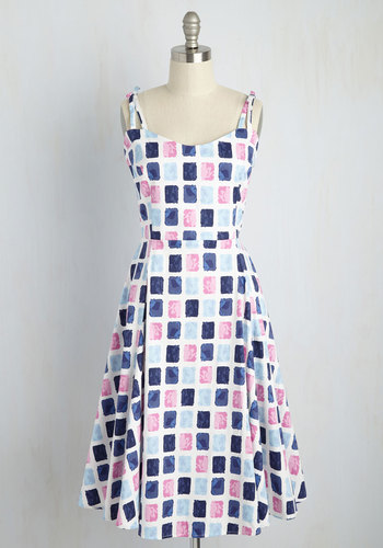 What a Catch Dress in Swatches $99.99 AT vintagedancer.com