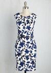 Teaching Classy Dress in Cobalt Blooms