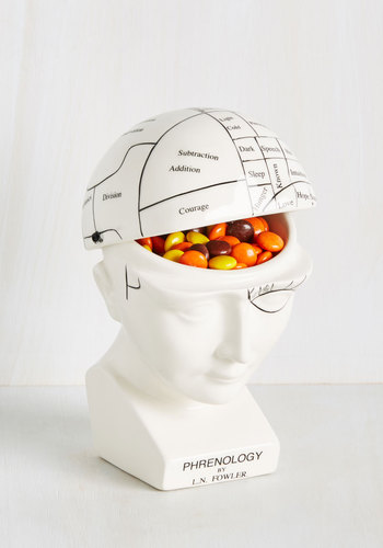 A Head of the Class Container by One Hundred 80 Degrees - White, Quirky, Good, Halloween, Skulls, 4th of July Sale