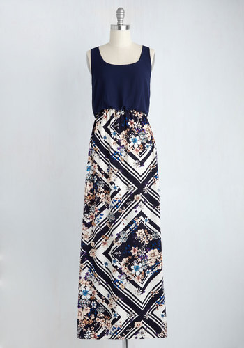 Poetry Glam Dress in Navy
