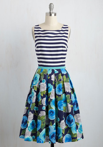 Mix Business and Leisure Floral Dress
