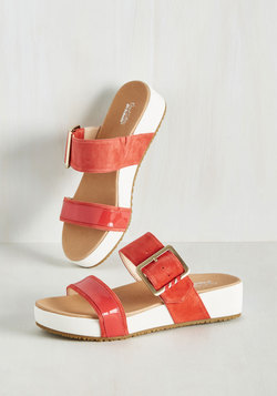 On My Buckle List Sandal in Paprika