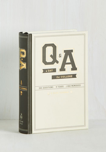 Q&A a Day for College 4 Year Journal - Dorm Decor, Scholastic/Collegiate, Good, Nifty Nerd, Gals, Guys, Under $20, Graduation