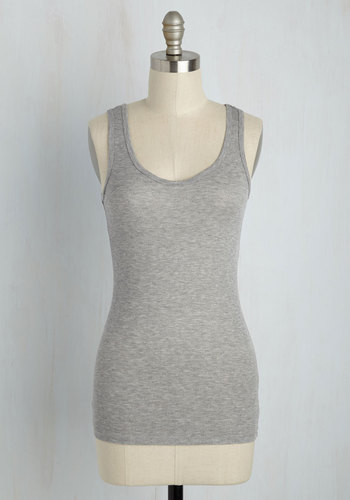 Staple-Chase Top in Grey