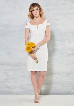 Aisle be Right With You Sheath Dress in White