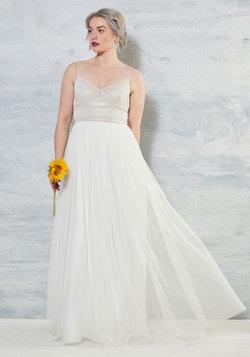 Shine Bride Like a Diamond Maxi Dress in White
