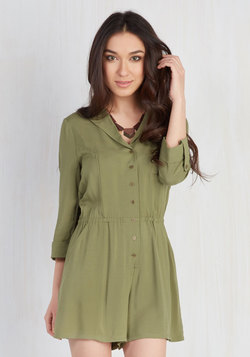 So Field With Joy Romper in Olive
