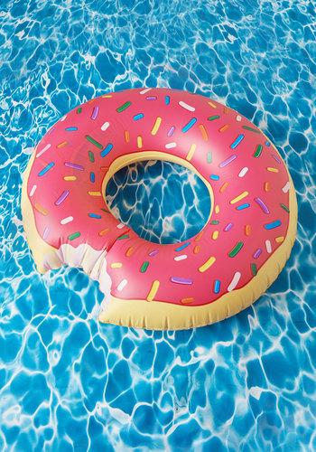 Mmmm, Donut Pool Float - Multi, Quirky, Food, Good, Pink, Summer, Guys, Top Rated, Pink