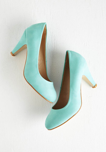 In a Classic of Its Own Heel in Mint - Mint, Solid, Work, Pastel, Party, Daytime Party, Minimal, Faux Leather, Press Placement, Best Seller, Good, 4th of July Sale, Spring, Colorsplash, Special Occasion, Prom, Wedding, Cocktail, Girls Night Out, Holiday, Graduation, Bridesmaid, Wedding Guest, High